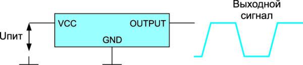 Схема включения стандартного кварцевого генератора