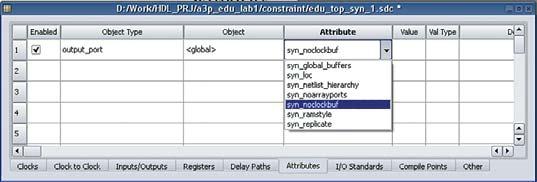 Рис. 2. Окно таблицы файла ограничений синтеза