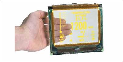 Вид стандартного прозрачного дисплея
