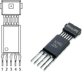 Рис. 93. Программируемый интегральный модуль KMA200 Philips — АМР-датчик угла с микроконтроллером и EEPROM для расчета функции арктангенса, калибровки и компенсации