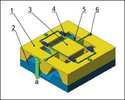 Типичная пьезорезистивная микромеханическая структура