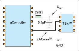 Схема питания микросхем от микроконтроллера