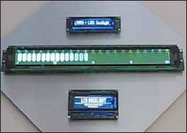 Прототип информационного VFD-дисплея с цветным фоном