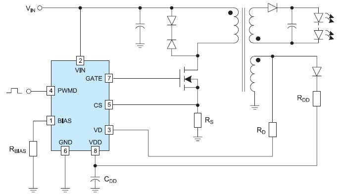 Пример обратноходового светодиодного драйвера