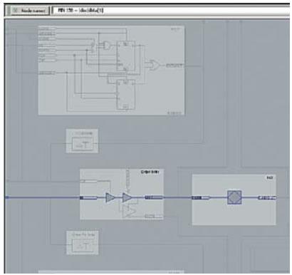 Буфер ввода вывода data[1] проекта dac, в случае, когда триггера в нем нет