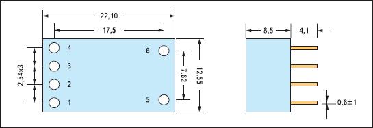 Размеры драйвера Recom