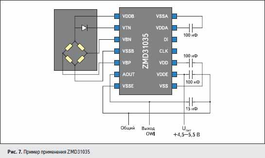 Пример применения ZMD31035