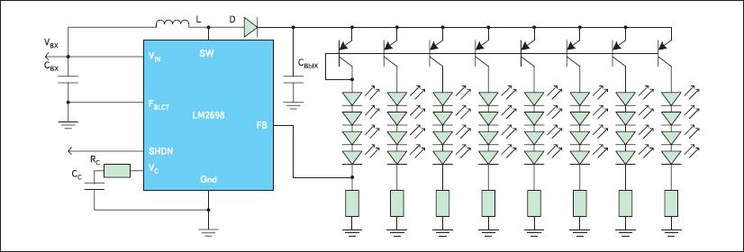 Типовая схема включения LM2698