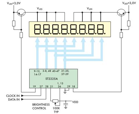 Рис. 10. Схема дуплексного включения ST2225A