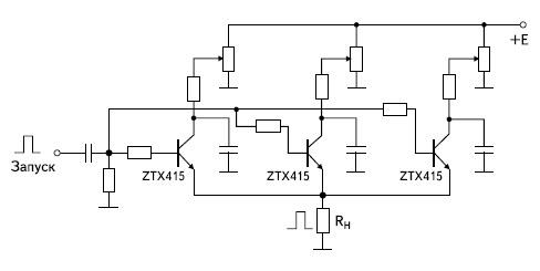 Генератор сильноточных импульсов с параллельным включением ЛТОООЗ фирмы Zetex