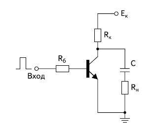 Схема ключа на биполярном транзисторе