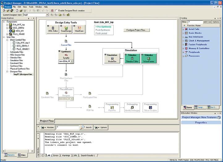 Рис. 1. Actel Libero IDE 8.4