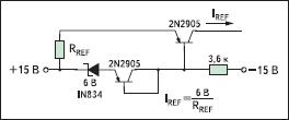 Схема термокомпенсированного источника опорного тока