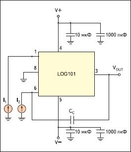 Типовая схема включения LOG101