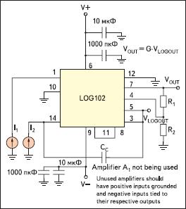 Типовая схема включения LOG102