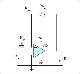 Логарифмический усилитель с транзистором в цепи ООС