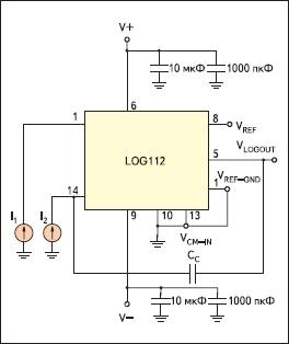 Типовая схема включения микросхемы LOG112