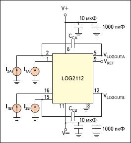 Типовая схема включения LOG2112