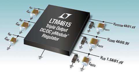 Стабилизатор LTM4615 с тремя выходами