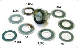 Различные виды дисков с метками, применяемые в стандартных энкодерах