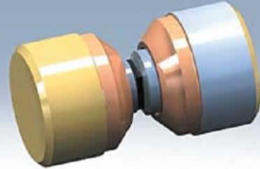 Конструкция диодов 2А523, 2А524 производства ТЭЗ (заливка средней части эпоксидным клеем не показана)