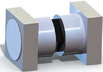 Конструкция диода МА4Р506-1072 производства фирмы MA/CОМ (середина корпуса-параллелепипеда из вакуум-плотной керамики не показана)