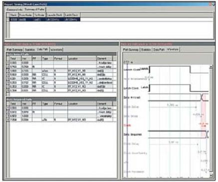 Временной анализ проекта с внешним делителем частоты с нарушением по th