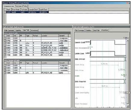 Временной анализ проекта с внешним делителем частоты с устраненным нарушением по th
