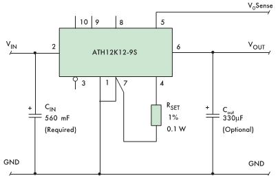 Установка выходного напряжения внешним резистором