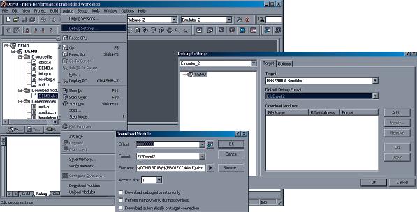 Рис. 6. Интерфейс среды разработки HEW