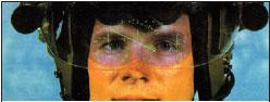 Изображение проецируется на внутреннюю поверхность солнцезащитного козырька