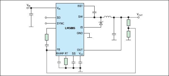 Упрощенная схема включения ИСН LM5005