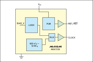 Структура микросхемы MAX7376