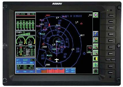 Передняя панель интегрированной дисплейной системы ICDS 2000
