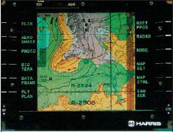 Дисплейный модуль фирмы Harris для отображения картографической информации