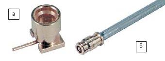 Рис. 11. Соединители SMPX: а) вилка; б) кабельная розетка