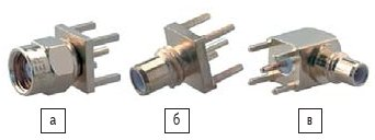 Рис. 5. Соединители SMC: а) 81-SMC-50-0-1/111-NE; б) 82-SMC-50-0-1/111-NH; в) 85-SMC-50-0-1/111-NE