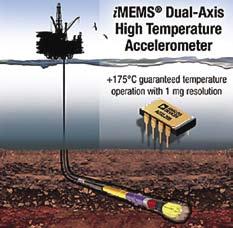 Высокотемпературный двухосевой  акселерометр