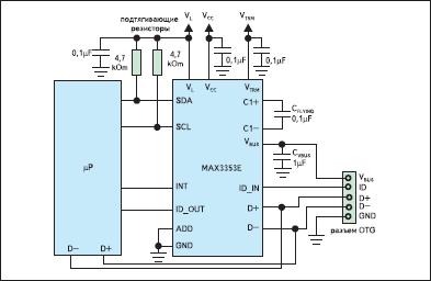 Схема включения трансивера MAX3353