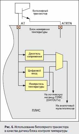 Использование биполярного транзистора в качестве датчика блока контроля температуры