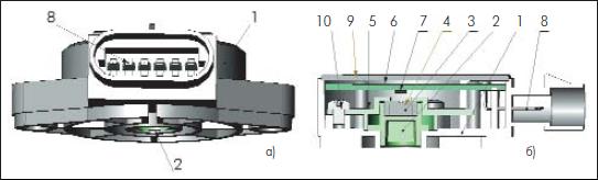 Проект датчика положения педали на основе углового датчика AAV002-11 и ZMD31050.