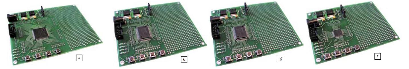 Общие виды отладочных комплектов с поверхностным монтажом ПЛИС CPLD