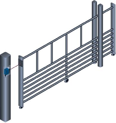 Рис.12. Пример использования датчиков DL60 для автоматизации ворот