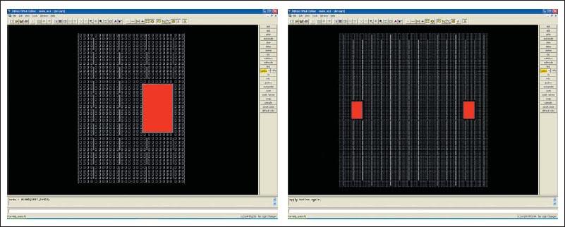 Вид кристалла ПЛИС XC2VP4 и XC2VP100