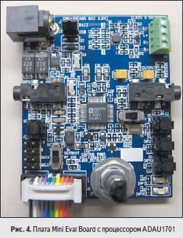 Плата Mini Eval Board с процессором ADAU1701
