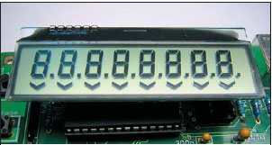Сегментный индикатор с драйвером на стекле TIC8148