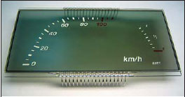 Пример нанесения дополнительного изображения на верхний поляризатор индикатора
