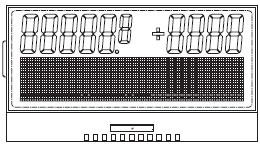 Рис. 6. Чертеж комбинированного символьнографического ЖКИ с драйвером на стекле