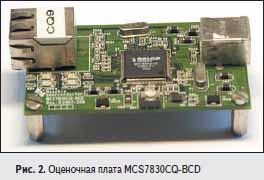 Оценочная плата MCS7830CQ-BCD
