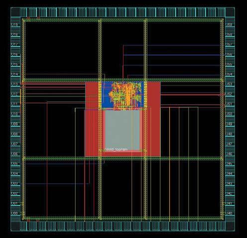 Рис. 4. Топология СФ-блока контроллера интерфейса MIL-STD-1553